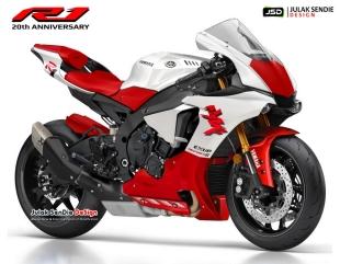 2018 Yamaha R1 20th Anniversary - Red